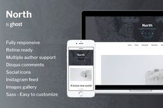North - Responsive Ghost Theme by byfortress on @Graphicsauthor