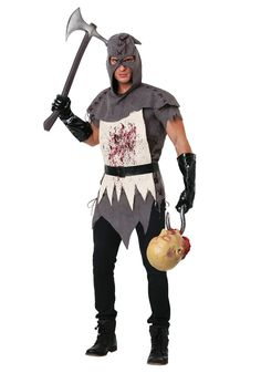 Men's Evil Executioner Costume - FOREVER HALLOWEEN Men's Renaissance Costume, Medieval Costume, Renaissance Fashion, Scary Halloween Costumes, Adult Costumes, Costumes For Women, Pirate Costumes, Faux Leather Belts, Black Faux Leather