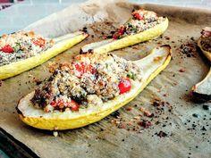 Garden-Stuffed Summer Squash Recipe #vegan #vegetarian #glutenfree #food #GoVegan #organic #healthy #RAW #recipe #health #whatveganseat