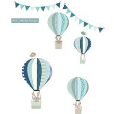Bunny And Balloons Fabric Wall Stickers