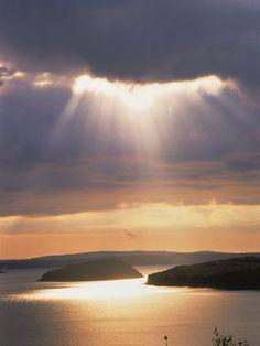 Sunrise Over Bar Harbor, Cadillac Mountain, ME.  A very favorite memory.  Love Maine!  Love Bar Harbor.