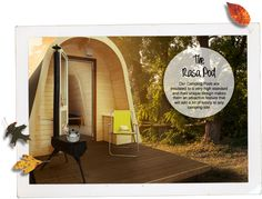 Our Rasa Camping Pods are insulated to a very high standard and their unique design makes them an attractive feature that will add a bit of luxury to any camping site.  #glamping #camping