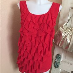 Ruffled blouse by Michael Kors Very pretty sleeveless blouse by Michael Kors, great condition, Michael Kors Tops Blouses
