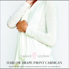 5  Rated Naked Truth Drape Front Cardigan This is one of the most comfortable cardigans I've ever worn. The material is incredibly soft and luxurious. This brand is one of Oprah's favorite things and worn by many celebrities. The items are made in the USA! MSRP is $148 on this item. Naked Truth Tops