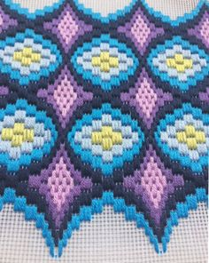 up-to-date Screen bargello Needlepoint patterns Suggestions Hoop Framed Bargello Needlepoint Florentine Long stitch Broderie Bargello, Bargello Needlepoint, Needlepoint Stitches, Embroidery Patterns, Hand Embroidery, Cross Stitch Patterns, Cross Stitch Embroidery, Purple Tapestry, Bargello Patterns