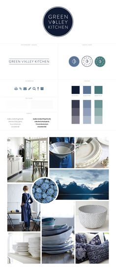 Design | White Oak Creative Green Valley Kitchen  Mood Board #identity