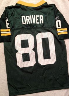 VINTAGE DONALD DRIVER GREEN BAY PACKERS REEBOK JERSEY YOUTH SMALL FREE SHIPPING