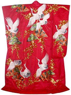 Japanese Traditional Kimono | 030 Japanese traditional wedding kimono, 1970's