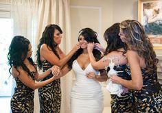 Jerseylicious' Tracy DiMarco & Corey get married! Cheetah Print Wedding, Animal Print Wedding, Wedding Stuff, Dream Wedding, Wedding Day, Tracy Dimarco, Dream Marriage, Bridesmaids