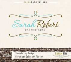Premade Photography Logo and Watermark  Custom Premade by charmmay, $24.00