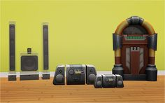 Stereos from TS4 - I like that one on the far left.  Looks very futuristic :)