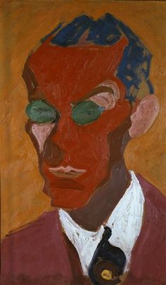 Carl Lohse – Roter Klang (Bildnis Ludwig Renn), 1919, Öl auf Pappe Maße, 71.5x45.5 cm | Staatliche Kunstsammlungen Dresden