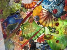 Chihuly art glass from the glass bridge in   Tacoma.  He's wonderful!