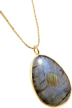 Pippa Small - 18-karat Gold Labradorite Necklace - one size
