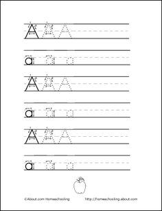 Handwriting worksheet--with directional arrows...there really is a method to teaching handwriting