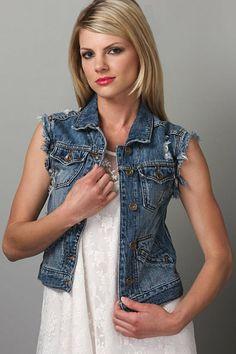 26369da876eea LuLu s The Runaway Denim Vest Miranda Lambert