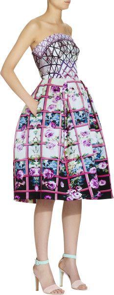Mary Katrantzou Nevis Dress Foli Rose Roadrunner in Floral (rose) - Lyst
