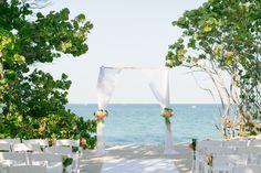 #Beachwedding arch, bamboo arch