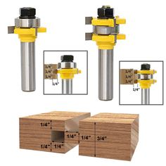 Decorative Edging Trimming 5pcs Router Bits include Straight ?Woodworker Gifts?Fivepears Router Bit Set with 1//4-Inch Shank