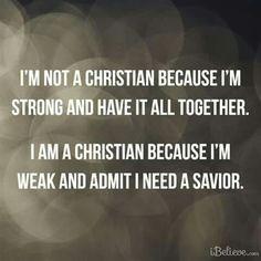 I Need Jesus...