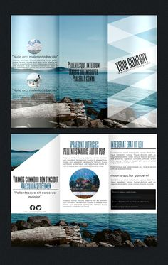 HD Decor Images » Tourism Service Trifold Brochure Template  CS  8 5x11  ad  adventure     A fresh beach brochure template for promoting travel plans or rental houses
