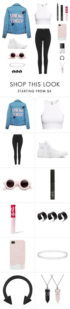 """""""Swallow nostalgia, chase it with lime. Better than dwelling, and chasing time. Missing occasions, I can't rewind. Can't help but feel like I've lost what's mine."""" by musicsavedme1313 ❤ liked on Polyvore featuring High Heels Suicide, H&M, Topshop, Converse, NARS Cosmetics, Lime Crime, ASOS and Bling Jewelry"""