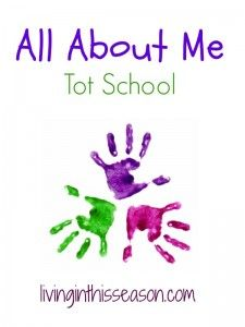 Simple activities for your toddler focusing on the theme all about me