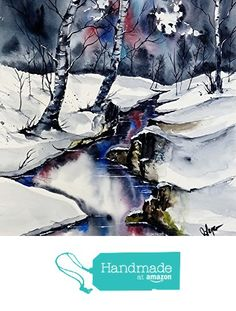 ORIGINAL painting Watercolor painting WATERCOLOR Painting, watercolor landscape, Pinetreeart, WATERCOLOR, landscape original, painting from Maine ARTist https://www.amazon.com/dp/B01HGZZDBM/ref=hnd_sw_r_pi_dp_rfbBxbWK9NJ93 #handmadeatamazon