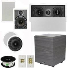 """5.1 Home Theater 6.5"""" Speakers Set with Center, 8"""" Powered Sub and More TS65CWL51SET2 by Theater Solutions. $321.99. Specifications2 TS65C In Ceiling/Wall Speakers6.5"""" Woven Kevlar Driver with 32-20,000 Hz Range200 Watts RMS and 400 Watts Max per pair92dB SensitivityCeiling Cut Out Size is 7.875""""Overall Measurement is 9.5""""Mounting Depth is 2.875""""2 TS65W In Ceiling/Wall Speakers6.5"""" Woven Kevlar Driver with 32-20,000 Hz Range200 Watts RMS and 400 Watts Max per pair93dB Se..."""