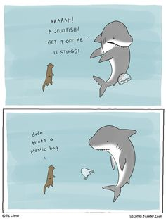 don't litter, it scares the sharks