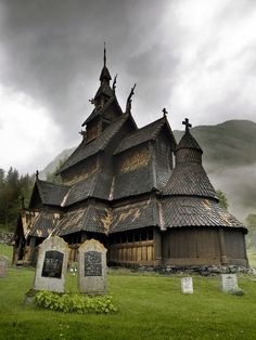 A Stave Church built in the twelfth century in Norway. It still stands today.