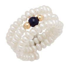 Freshwater Pearl & Gemstone Comfort Ring