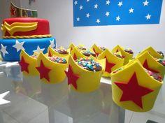 Decoração Festa Infantil Mesversário Mulher Maravilha – Blog Inspire sua Festa