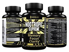 Nootropics Brain Supplement for Memory, Focus, Mental Clarity Support - Boosts Cognition, Brain Health
