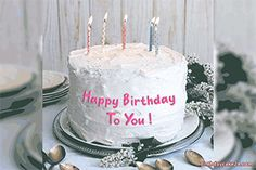 Write Name On Birthday Cake Gif Image White Hy Birthday Wishes With Name 2019 Create Edit BdayBirthday Cake With Candles Name Photo On Cakes Related Happy Birthday Flower Cake, Birthday Cake Quotes, 22nd Birthday Cakes, Birthday Cake Write Name, Birthday Wishes With Name, Happy Birthday Cake Pictures, Birthday Cake Writing, Friends Birthday Cake, Happy Birthday Wishes Cake