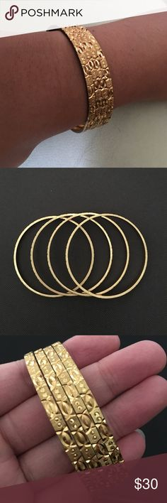 Today Only Sale  Gold plated bangles. Jewelry Bracelets