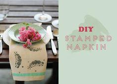 diy-stamped-napkin