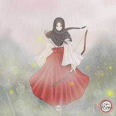 Media Tweets by Nurul Nadhila @nadhila_nurul Twitter Hijab Anime, Anime Manga, Muslim Girls, Muslim Women, Girl Cartoon, Cartoon Art, Tmblr Girl, Hijab Drawing, Islamic Cartoon