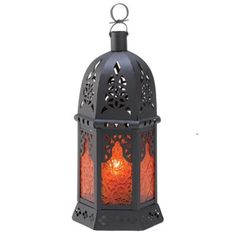"""20 AMBER Large Candle LANTERN WEDDING CENTERPIECES 13"""" Tall"""