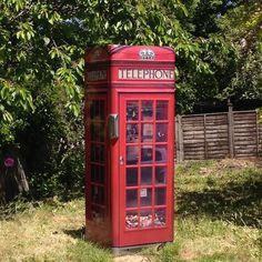 red telephone box fridge wrap