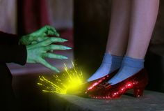 Image result for the wizard of oz still ruby slipper