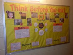 Quite Smashing Love: Think Before You Ink Bulletin Board