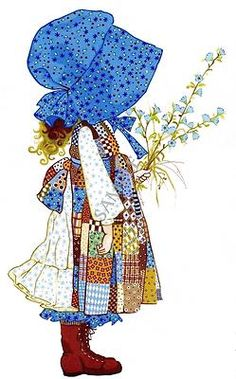 Holly Hobbie. Sweet memories of my Aunt Shirley who loved Holly Hobbie.