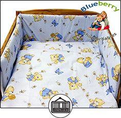 """Blueberry Tienda Bebé (3m - 3 años) Lote Cuna Funda Nordica + Funda Almohada 47"""" x 59"""" (120 Cm X 150 Cm)Azul  ✿ Regalos para recién nacidos - Bebes ✿ ▬► Ver oferta: http://comprar.io/goto/B00BAFQKC6"""