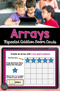 Looking for repeated addition practice with arrays? This Boom Card digital task card set includes type-in, multiple-choice, and drag and drop tasks perfect for second grade students working on repeated addition with arrays. Aligns with Common Core Standard 2.OA.C4. Teaching Second Grade, Second Grade Teacher, 2nd Grade Classroom, Third Grade Math, Repeated Addition, Common Core Ela, Teaching Phonics, Multiple Choice, Elementary Math
