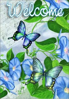 Lori Schory - Morning Glories and Butterflies