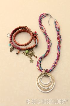 A love of color, texture And An eclectic blend of cultures...we've cAptured it with this new line of jewelry components thAt you cAn mix match.