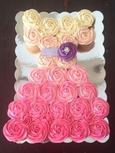 Ombre Cupcake Dress Cake