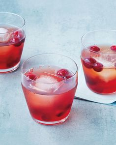 You can make the cranberry shrub for this holiday cocktail up to three weeks in advance. Just add bourbon and seltzer on the day of the party.