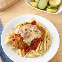 Enjoy our fast, no-fuss version of chicken parmesan. Paired with penne and squash, it's sure to become a family favorite.